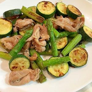 夏野菜と鶏せせりのグリル