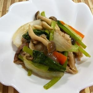 豚肉と小松菜の甘辛炒め