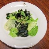 シャキシャキレタスと韓国海苔のサラダ
