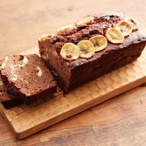 バナナたっぷり濃厚チョコパウンドケーキ