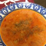 野菜たっぷり食べるスープ☆豆乳トマトスープ