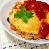 トマトソース缶で簡単☆減塩炊き込みチキンライス
