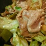 ストウブDe〜豚コマとキャベツの炒め物
