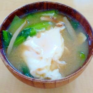 ごぼうの落とし卵の味噌汁