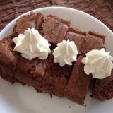 チョコケーキ 有塩バター、森永ココアで洗い物もなし