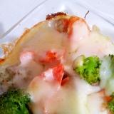 【糖質制限】鮭とブロッコリーのグラタン
