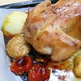 【鶏一羽丸焼き】丸鶏のグリル