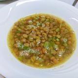 レンズ豆と蕪菜のスープ