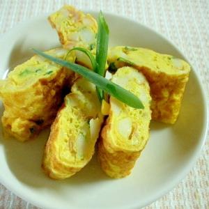 豆腐と小ネギとコーン入りマヨ卵焼き