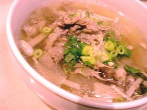 ごちそうスープ 大根と牛肉の韓国風