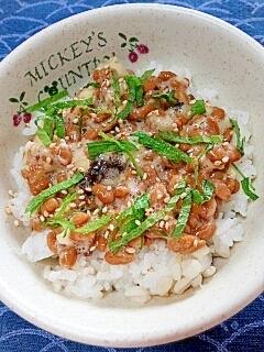 納豆の食べ方-梅しそ生姜♪