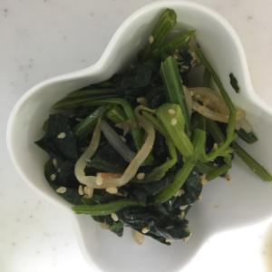 麺つゆで味付け✨ほうれん草ともやしの胡麻和え