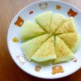 緑が綺麗☆ きゅうりの米粉パンケーキ