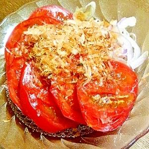 ポン酢でスライストマト