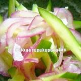 紫玉葱と胡瓜の酢の物