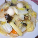 八宝菜の素を使って、コクのある八宝菜
