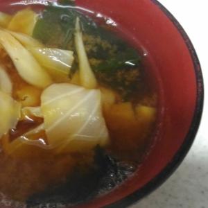 ごぼうの味噌汁