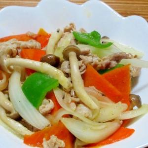 キノコ入り肉野菜炒め