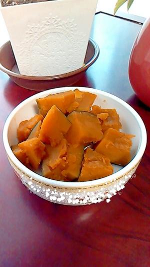 レンジでカボチャの煮物