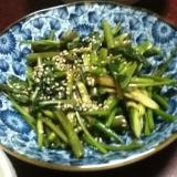 空芯菜とニンニクの芽の炒め物