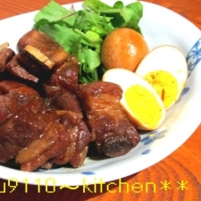豚スペアリブのマーマレード煮込と煮卵