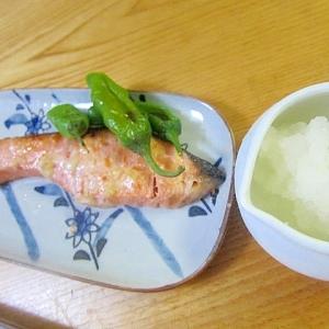 鮭塩麹ししとう焼き