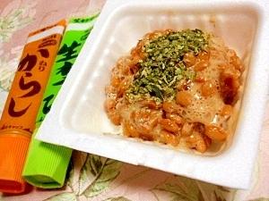 ツーンと美味しい❤ワサビマヨ生姜の納豆❤