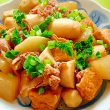 大根と里芋厚揚げ豚肉の煮物