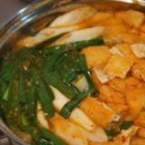 キムチを使ったキムチ鍋