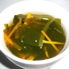 にんじんとわかめのスープ