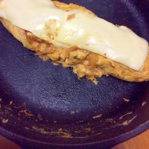 キムチ味噌卵焼きチーズ乗せ