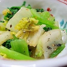 白菜と小松菜のおひたし。