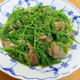 鶏レバーとおかひじきの生姜煮