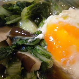 しろなと卵の煮物