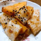 上天ぷらと薩摩芋の鯛味噌炒め