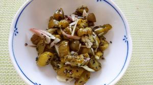 胡瓜の古漬けの薬味和え