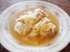 ザワークラウトと肉団子のスープ