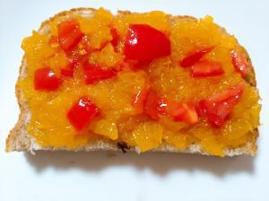 八朔ジャムトマトトースト
