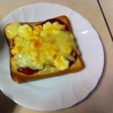 超簡単!卵サラダのピザトースト