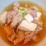 酸辣湯風 豚肉のスープ