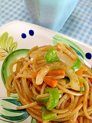 カレールーひとかけら♪♪ 野菜カレーパスタ