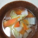 白菜とにんじんのコンソメスープ