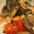 鮭とアサリのアクアパッツァ