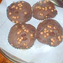 チョコとレーズンとココアの簡単ケーキ