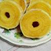 玉子焼きフライパンで★バウムクーヘン