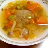 ハンバーグと野菜のコンソメスープ