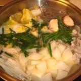 限りなくプロの味に近い「豚バラ肉の塩ちゃんこ鍋」