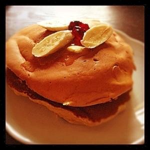 栄養たっぷり!きな粉豆腐バナナホットケーキ♡
