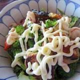 茄子肉団子野菜サラダ
