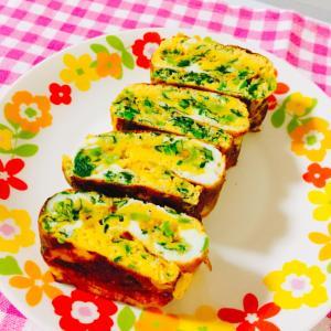 お弁当にどうぞ♬ 小松菜の卵焼き